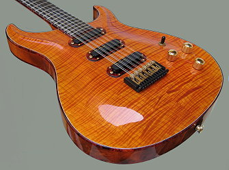 12-string Hollow-body, Curly Maple front and back