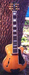 Mini Jazz guitar, Maple with Spruce top and Ebony FB and bridge
