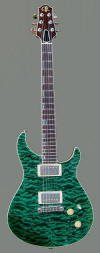 T Deluxe, AAAA Quilted Maple top - front