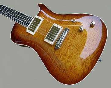 Brigand, Faded Tobacco burst, Curly Maple top