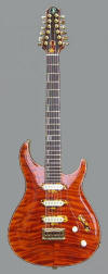 12-string HB, Curly Redwood top - front