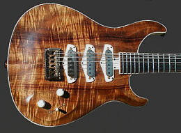 12-string Hollow body, Koa top with oil finish