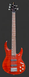 5-string Bolt-on Bass, Burnt orange - front