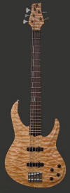 5-string neck-thru bass, Quilt top - front