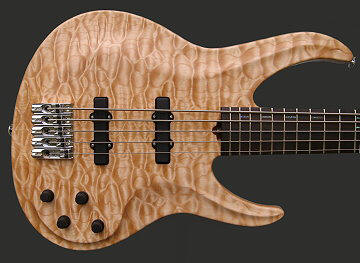 5-string neck-thru bass, Quilt top