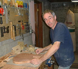 Roger Giffin at his work bench